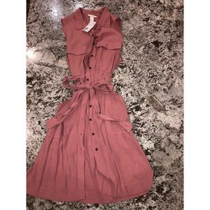 Women's size 10 h&m blush pink summer dress